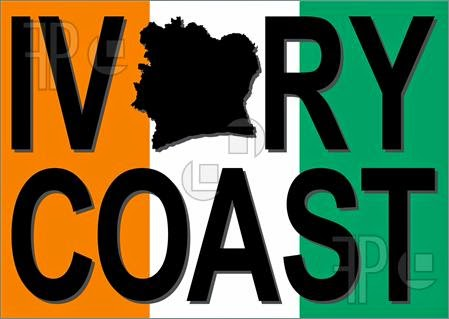 Nice colours: The Ivory Coast flag.