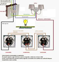 como conectar conmutadas y cruzamiento facil y sencillo