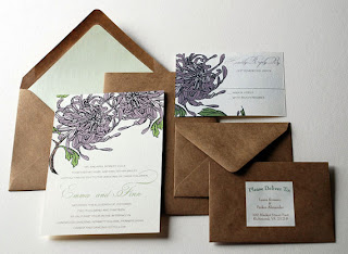 olive & ruby custom design wedding invitation