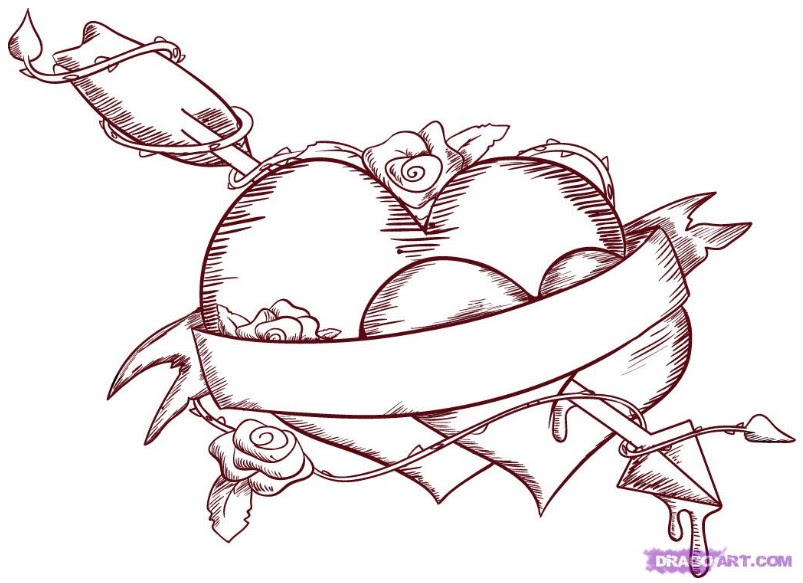 Sketch 2 Graffiti Heart By Dragon Art