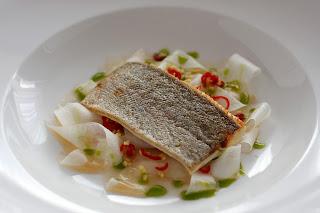 gyömbér chili jégcsapretek retek saláta reteksaláta pisztráng sült hal pisztrángfilé bazsalikomolaj bazsalikom olaj