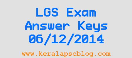 Last Grade Servant Exam 06-12-2014 Kollam and Thrissur Answer Keys