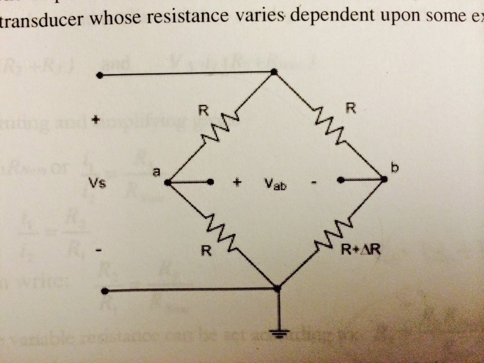 Engineering 44 Blog Post Day 12 Swang Circuit Diagram Schematic On Wheatstone Bridge Single Op Amp Before We Started The Lab Wanted To Know How Works And Right Way Set Up So Can Convert Resistance Change Of