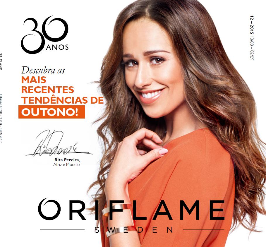 Catálogo 12 de 2015 da Oriflame com Rita Pereira