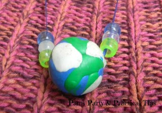 Homemade Earth Day Clay Bead