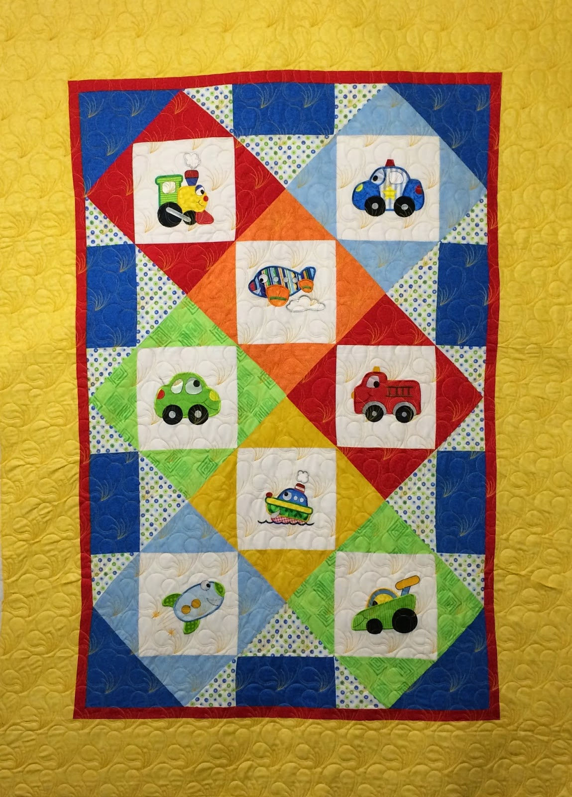 Joan Salesman Vehicle Embroidery Quilt