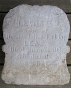 I was actually better able to read the tombstone from the photos than I was .