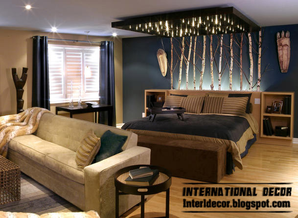 New Color And Lighting Ideas For Modern Bedroom Design 2013