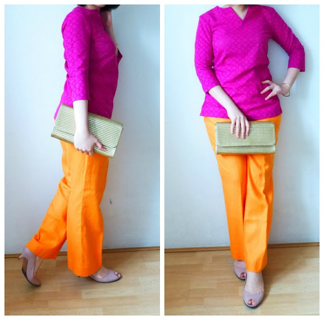 purple-blouse-orange-pants