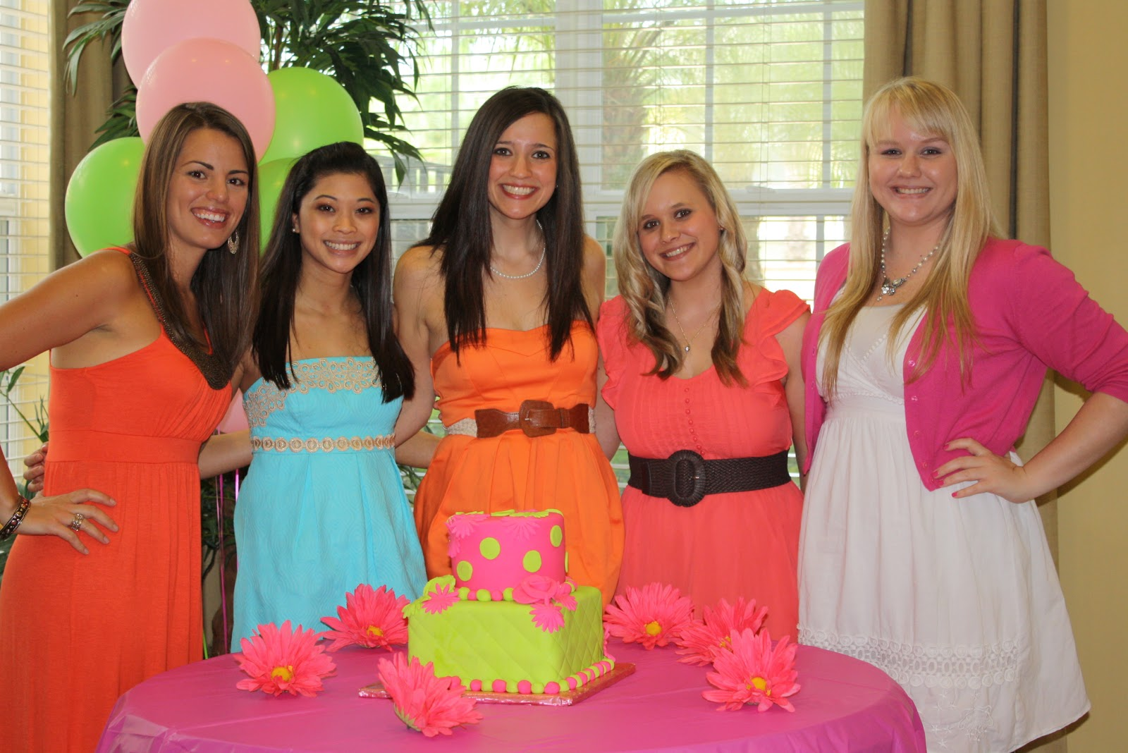 saturday my lovely future sisters and florida bridesmaids threw me an amazing bridal shower the decorations food games and company were simply fabulous