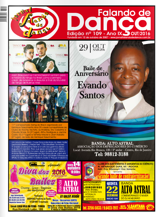 Leia on line a ed 109 (Outubro/2016)