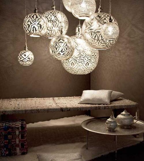 lámparas egipcias diseñadas por Zenza
