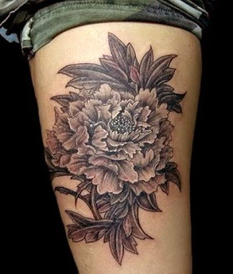 Peony Flower Tattoos Design