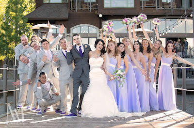 Lavender & Gray bridal party attire l Marie Adair Photography, Take the Cake Event Planning, West Shore Cafe