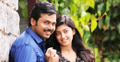 Karthi and Praneetha hot Stills in Saguni