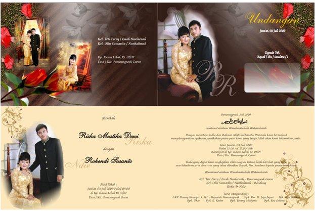 Berikut contoh undangan pernikahan coreldraw yang terdapat dalam paket ...