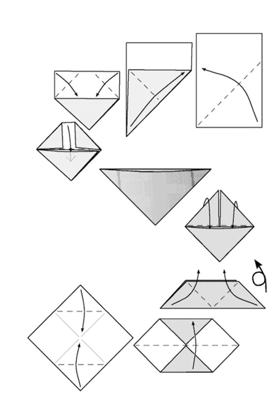 Как сделать закладку из бумаги для книги с схемой
