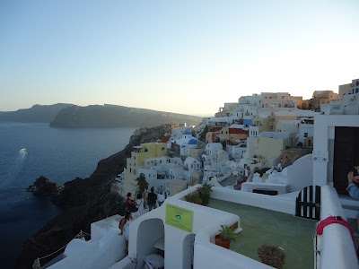 The village of Fira is now the capital of Santorini