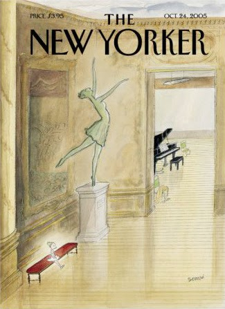 illustration by french artist sempe of dance lessons for the new yorker cover