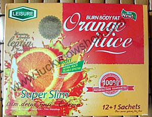 leisure slimming orange juice super slim