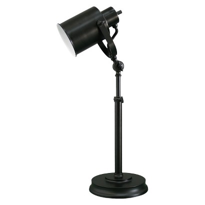 TARGET THRESHOLD BLACK STUDIO CAN TABLE LAMP
