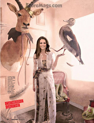 New royal icon of fashion world Kate Middleton for the cover shoot of the women's magazine Marie Claire South Africa
