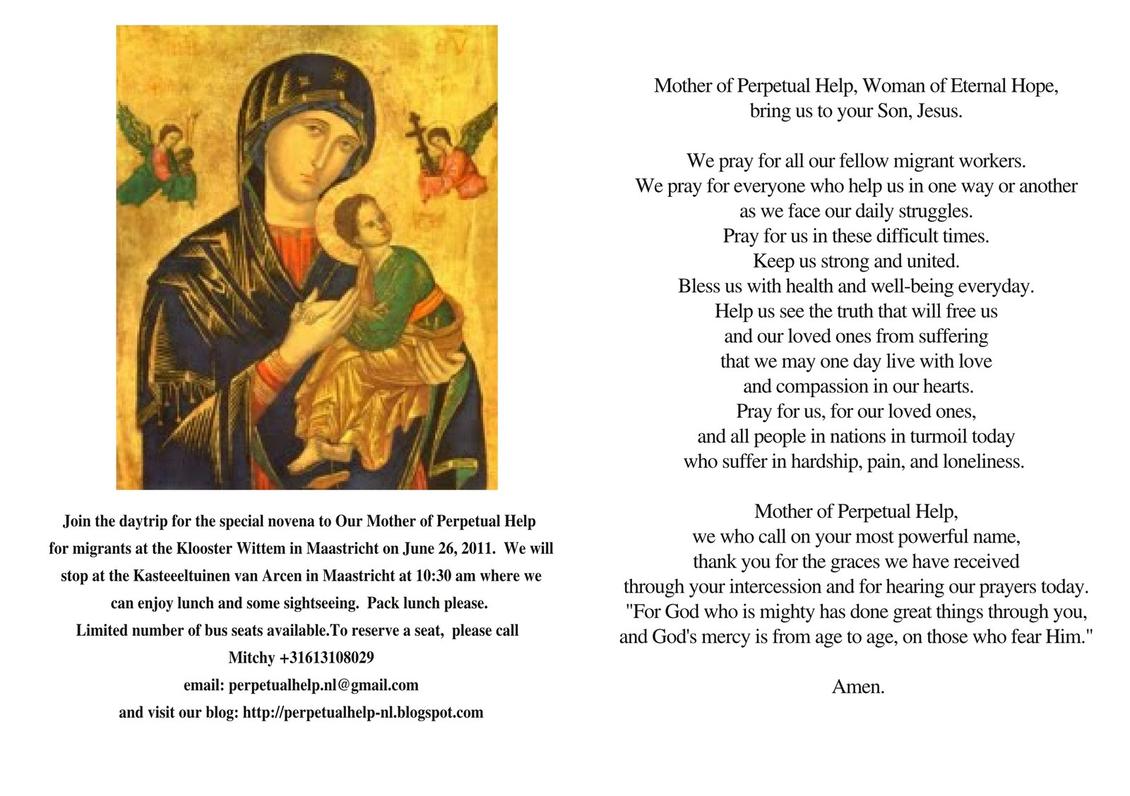 a migrant's devotion to our lady of perpetual help