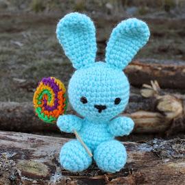 Conejo con chupetín paleta