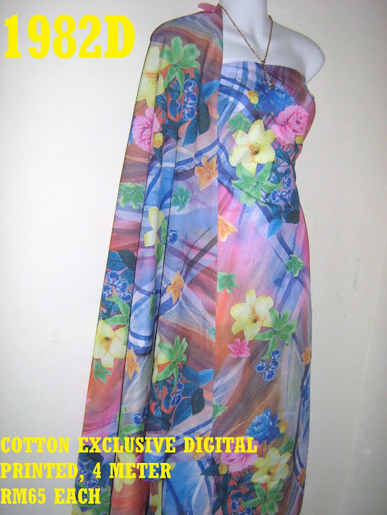 CDP 1982D: COTTON EXCLUSIVE DIGITAL PRINTED, 4 METER