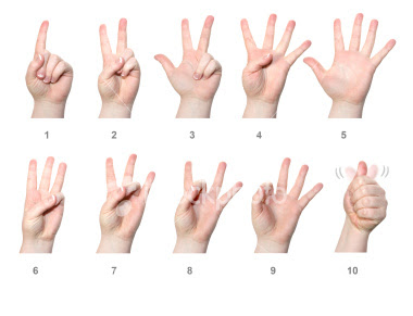 Breathtaking image within asl numbers 1-20 printable