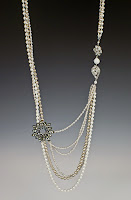 Necklace of the Month - August. Katherine necklace with vintage elements