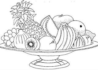 Frutas y Flores para Colorear Manualidades