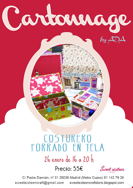 Taller cartonnage en Madrid, Sweet Sixteen