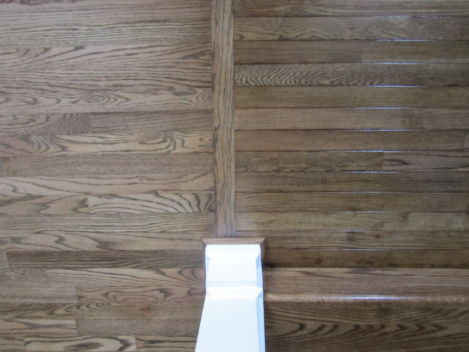 Acanthus and acorn the process of refinishing hardwood for Different colors of hardwood floors