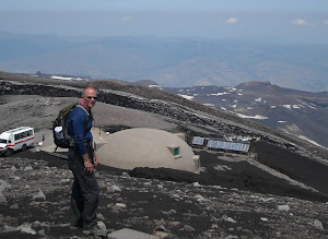 mapping historic lava flows...at the Etna Volcano Observatory...Summer 2012.....