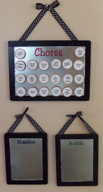 Cute Magnetic Chore Chart for Your Family