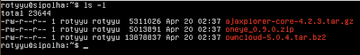 Cek file di server