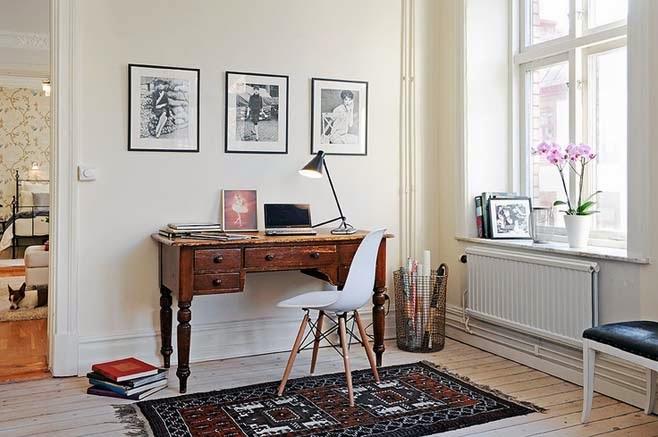 Integrar un espacio de trabajo en casa comparte mi moda - Integrar escritorio en salon ...
