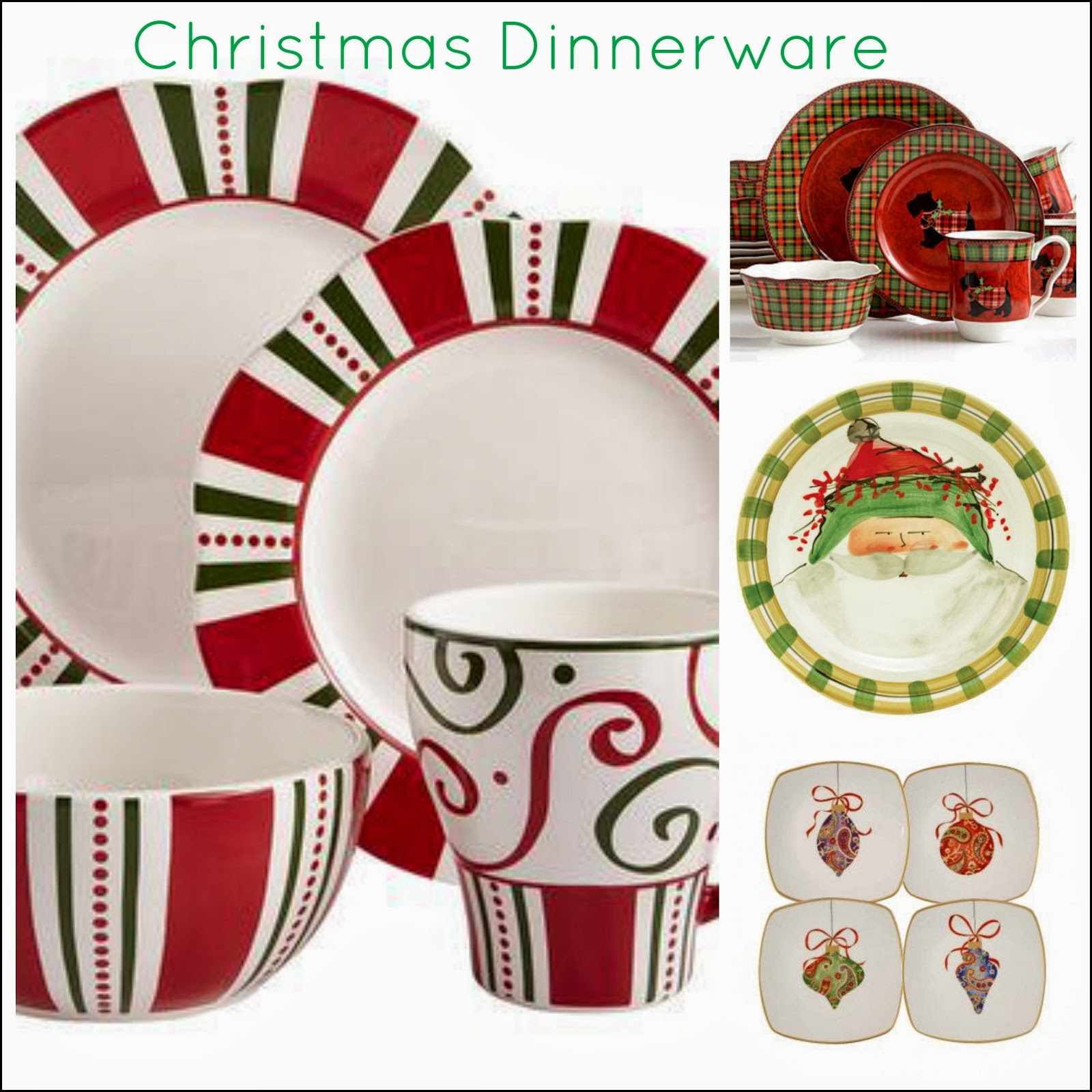 Christmas Dinnerware Sets For 8