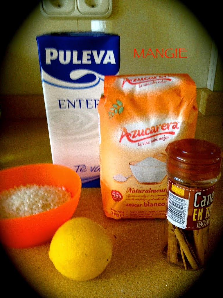 Ingredientes arroz con leche