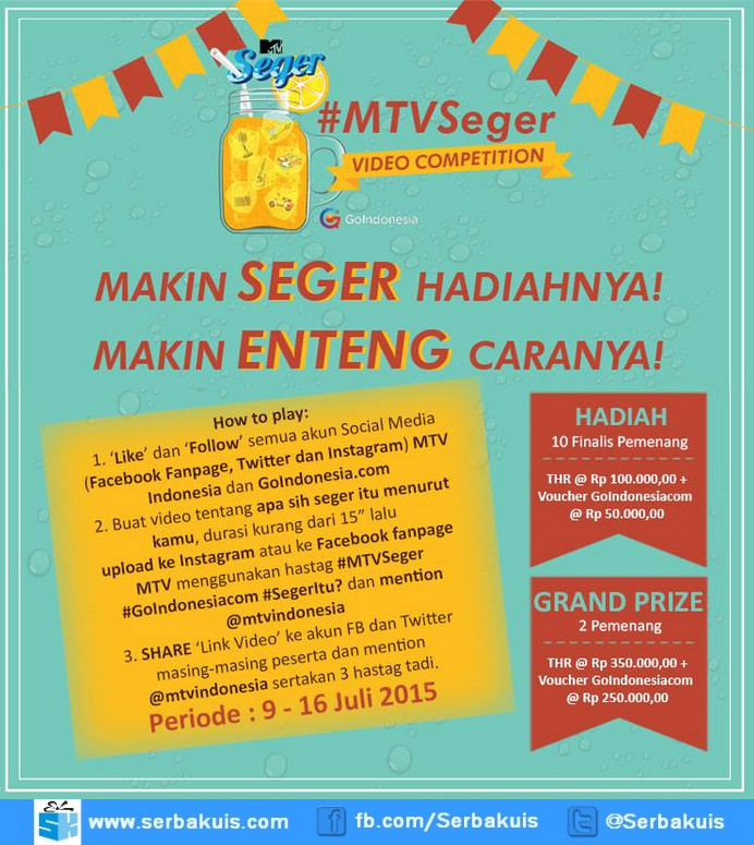 Kontes Video MTV Seger 5 Berhadiah THR & Voucher GoIndonesia