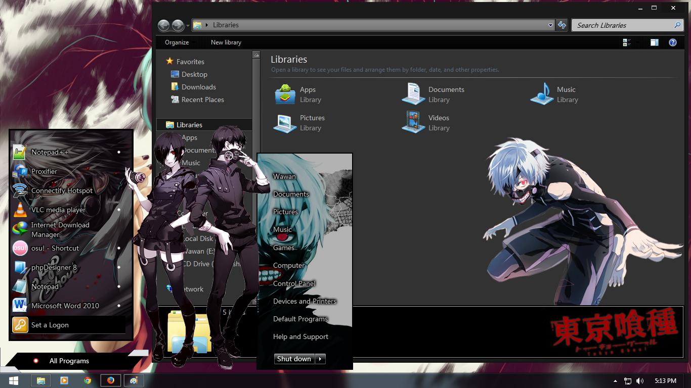 Google themes anime tokyo ghoul - Kawaii Theme Windows