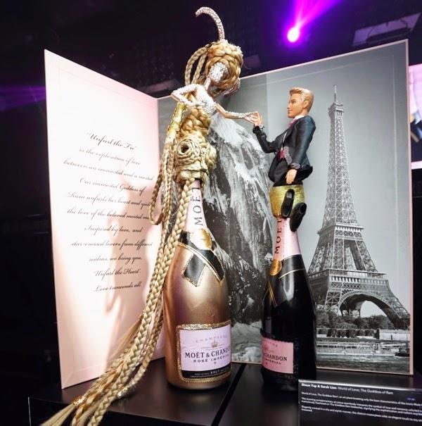 World of Love, The Goddess Ram, Moet & Chandon Rosé Impérial, Celebrates Art & Creativity, Moet & Chandon, Rosé Impérial, Champagne Party