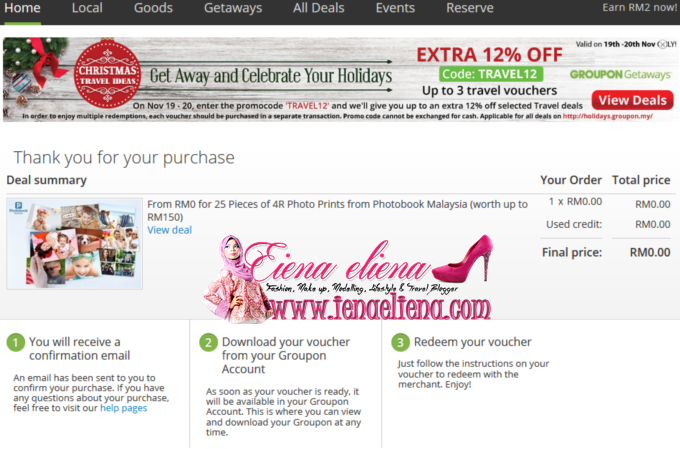 Photo Print Percuma Dari Photobook di Groupon