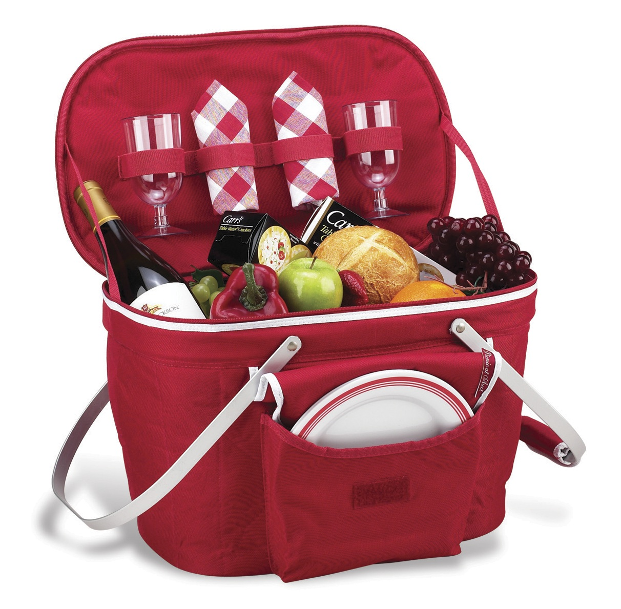 Picnic basket for 2 canada : Party picnic collapsible insulated basket for two