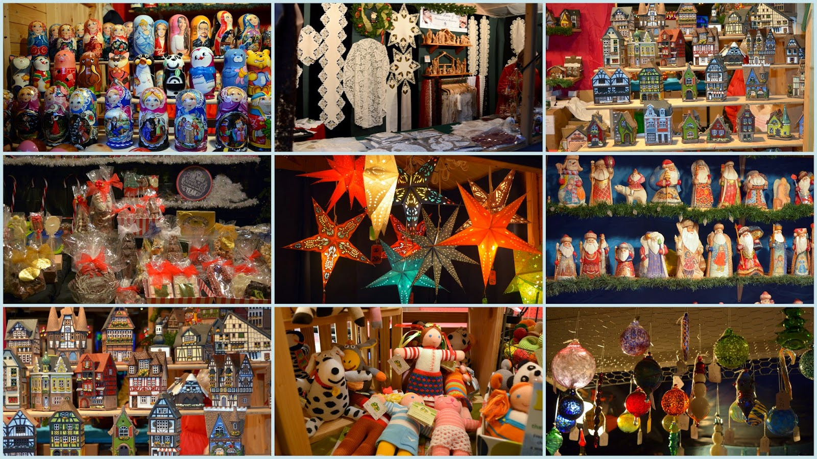 Traditional german christmas decorations -  As Well As Many Other Booths That Offered Linens Lace Traditional Lighted Paper Stars Wooden Clocks Chocolates Wooden Village Houses Hand Knitted