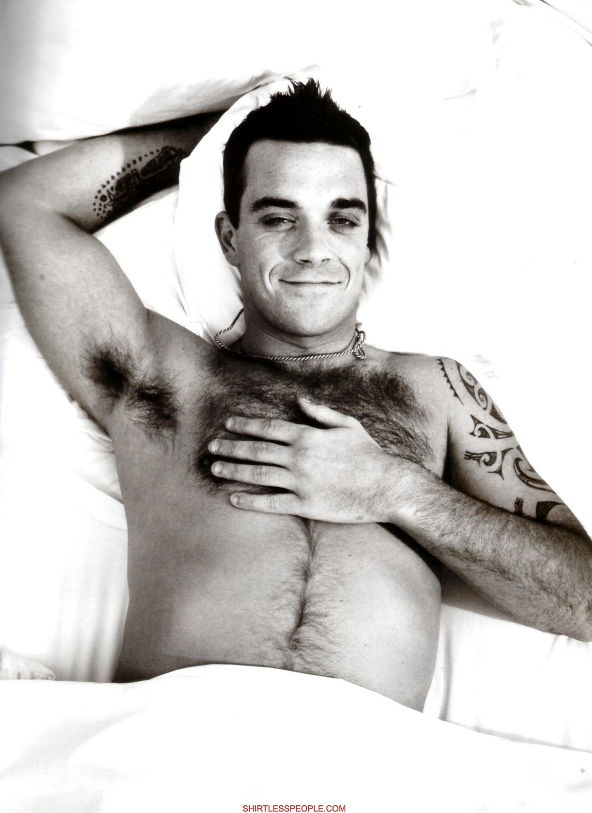 Sexy robbie williams with his sexy body remarkable