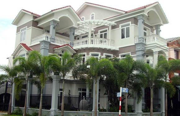 sơn nhà đẹp với màu xanh