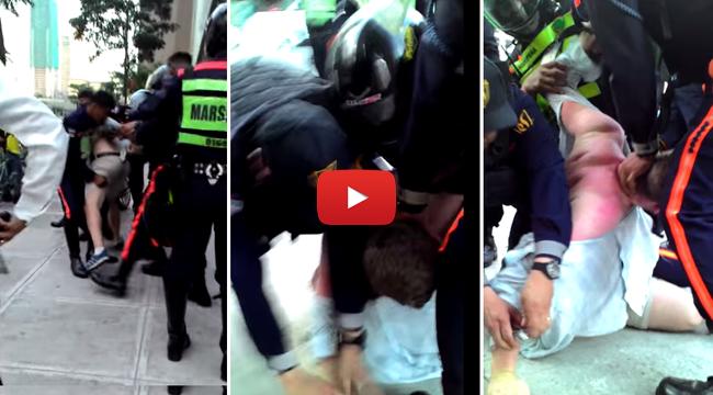 Vdeo of Bonifacio Global City (BGC) Guards Arresting Two British Nationals Go Viral