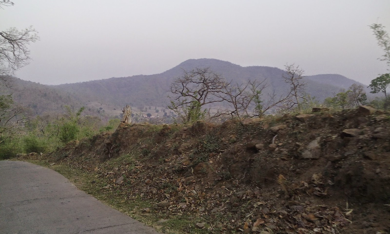 Road view of satpura hills